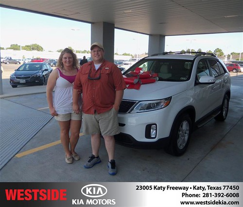 Thank you to Jeremy Munz on the 2014 Kia Sorento from Boris Landry and everyone at Westside Kia! by Westside KIA