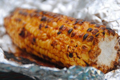 Corn BBQ grill broil chipotle