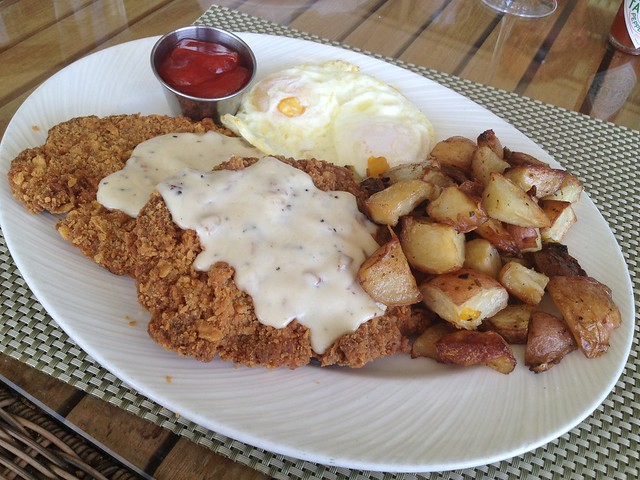 Country fried steak - Escena Lounge & Grill