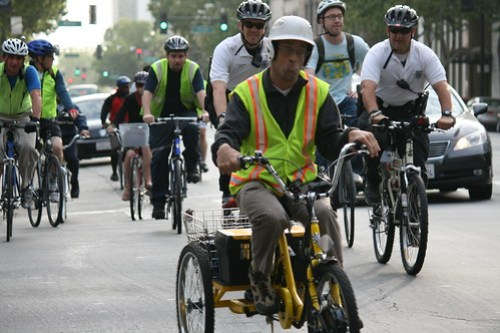 e-trike guy on Santa Clara Street