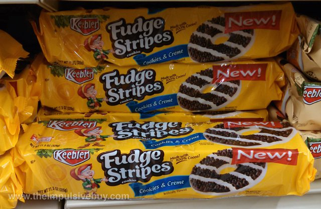 Keebler Cookies & Creme Fudge Stripes Cookies