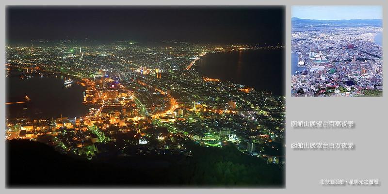 函館山展望台百萬夜景postcard