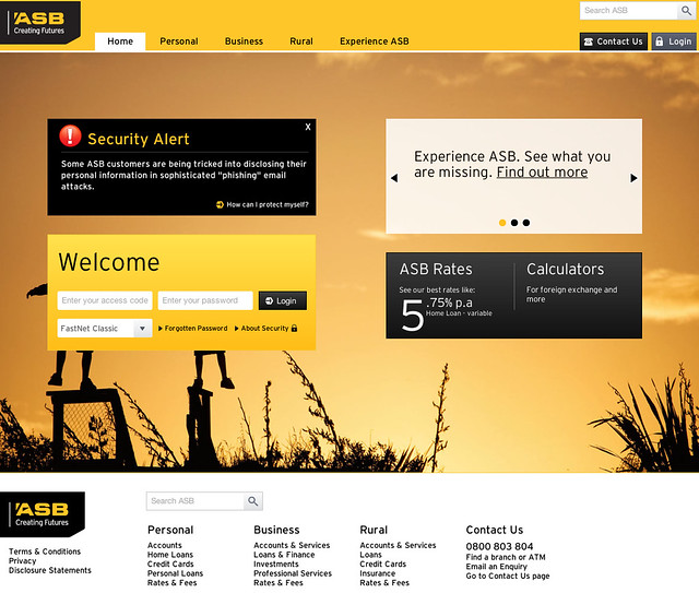 Bank homepages in New Zealand – a review – Lance Wiggs