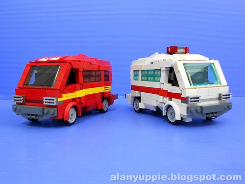 LEGO Ironhide and Ratchet