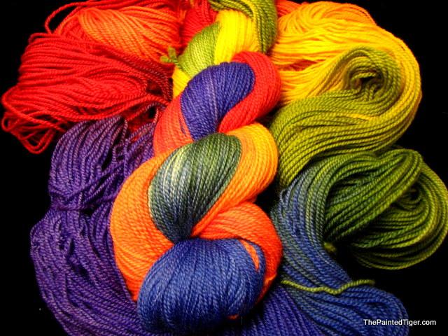 Rainbow - Tiger Twist Sock Yarn