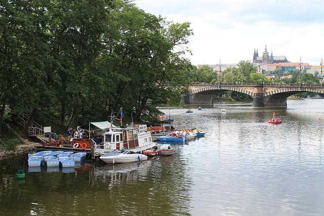 Rowboat and Paddleboat rental on the Vltava