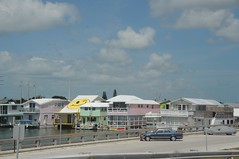 Smiley house, on the road to Key west, Florida Keys