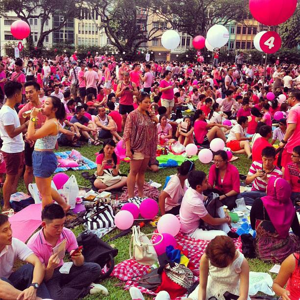 Hong Lim Park  turned a sea of pink during Pink Dot 2013. #iseefreedom