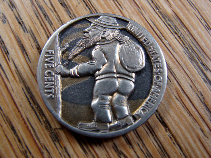 Paul Holbrecht » Hobo Nickels/Coin carvings