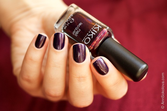 05 Kiko #497 Pearly Indian Violet nail laquer swatches