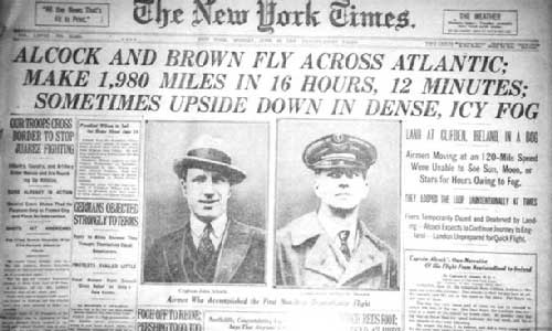 alcock-and-brown-newspaper-headline