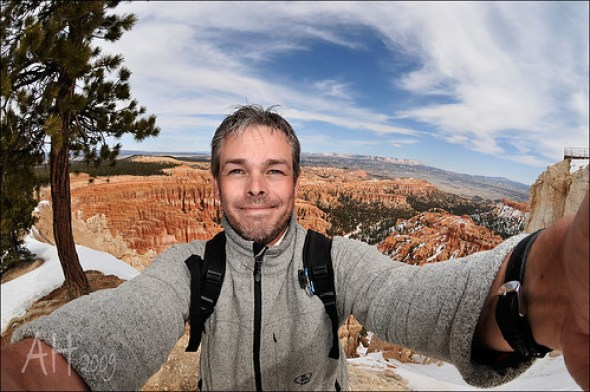 Glücklich am Bryce Canyon