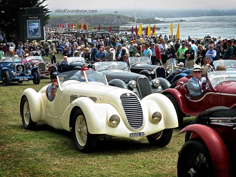 1934 Alfa Romeo 8C 2300 Spider Zagato at the 2013 Pebble Beach Concours d'Elegance
