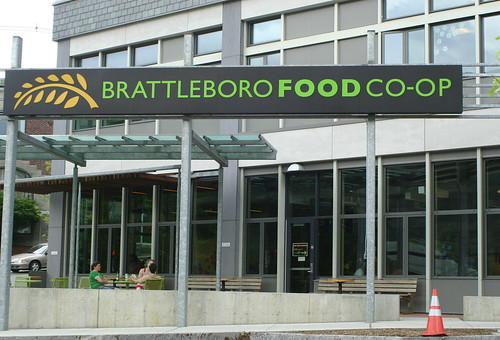 Brattleboro Food Co-op outdoor eating area
