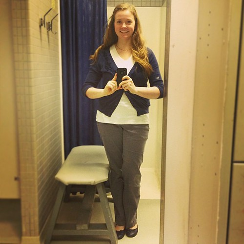 I'm getting a little too used to the weird work washroom for #ootd pics; I match it today!