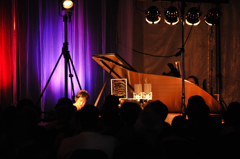 Kimiko Ishizaka performing on piano.