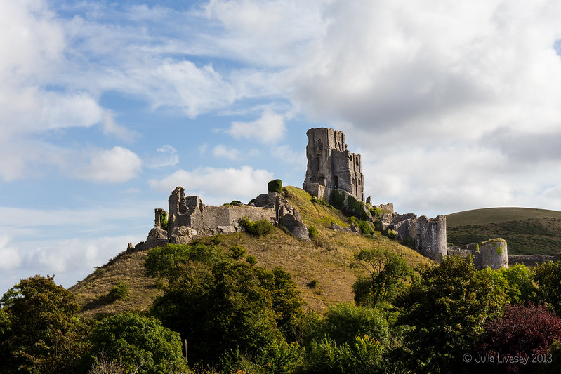 Corfe Castle from the west