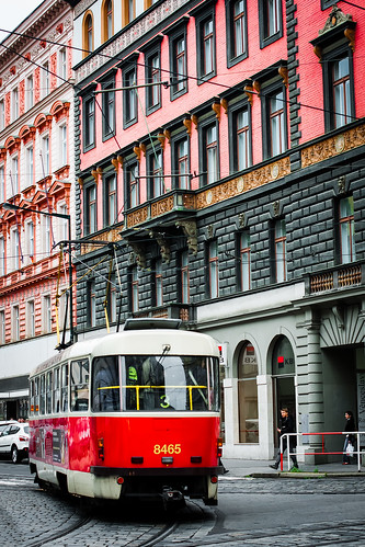 Tram in Prague Street