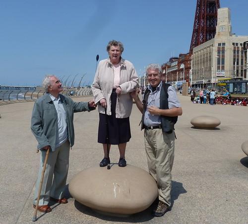 Three old foggies in Blackpool