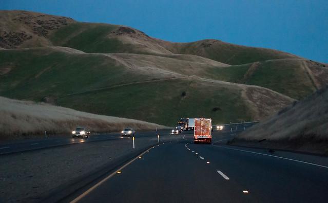 Highway, northwest of Fresno, California