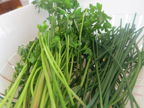 Chive, parsley and miso pistou
