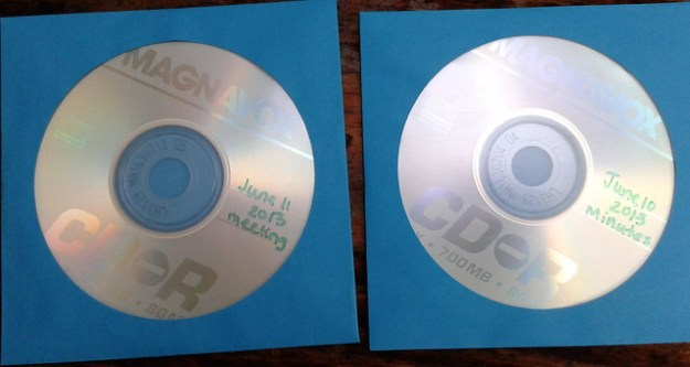Two CDs of sound recordings