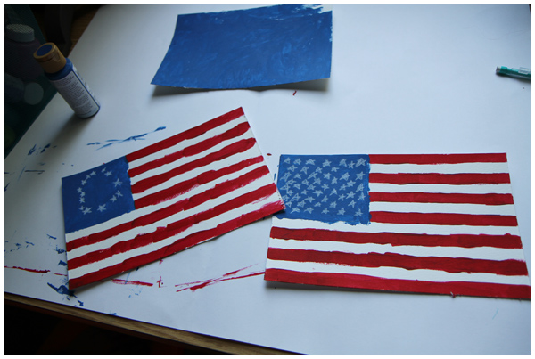 Flag homeschool activity for kids
