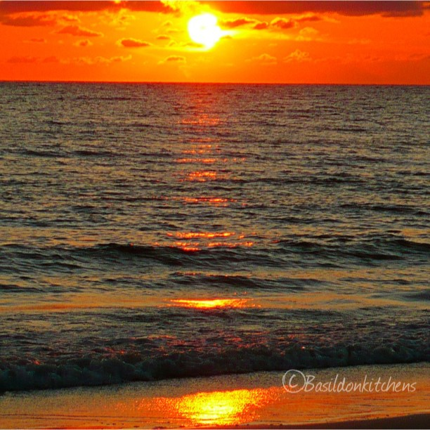 July 29 - sunset {from last year's vacation; the sun slipping into the Gulf of Mexico, Madeira Beach, FLA} #photoaday #sunset #gulfofmexico #madeirabeach #florida #nofilters