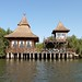 View of our stilted lodge