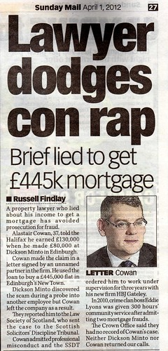 Lawyer dodges con rap Sunday Mail April 1 2012