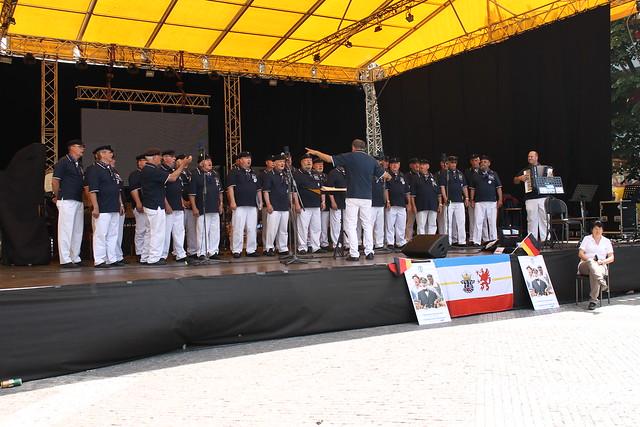 German marine choir on Václavské náměstí