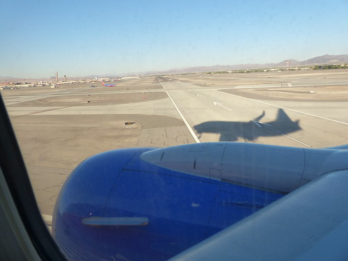 Me n' my shadow - coming into Vegas