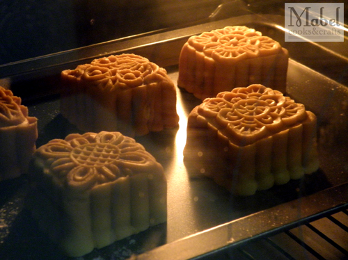 Mooncake Galore: First attempt in the oven