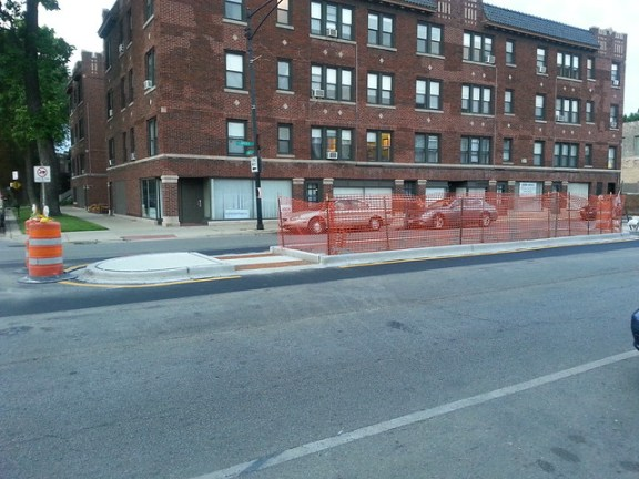 Lawrence Avenue Streetscape Pedestrian Island