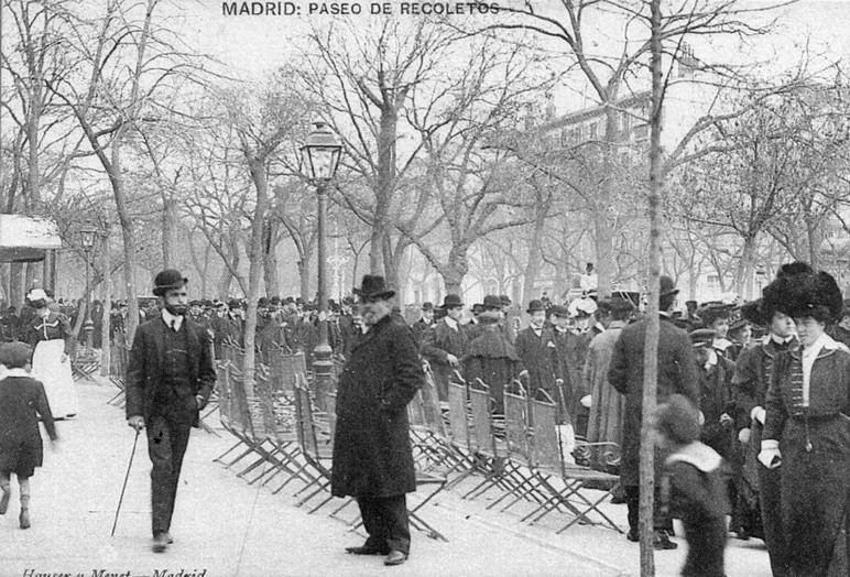 3. Paseo de Recoletos, en Madrid. Finales del siglo XIX. Autor, MnGyver