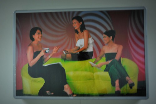 The F Girls at an ABS-CBN corridor