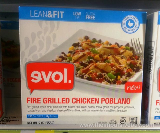 evol Lean & Fit Fire Grilled Chicken Poblano