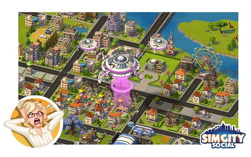 New SimCity Social Ren... OMG! ALIENS!!! Hide your male Sims!
