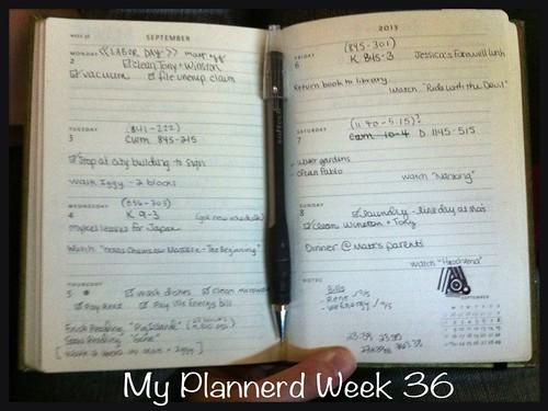 My Plannerd Week 36