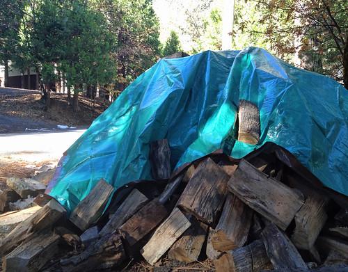 firewood pile berm