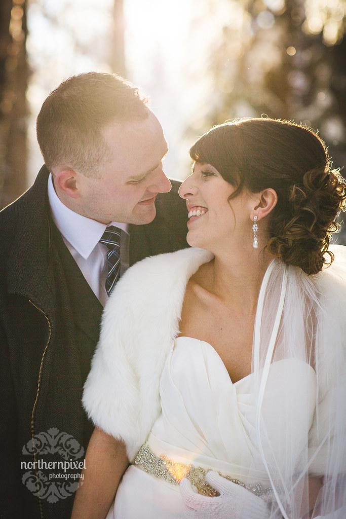 Winter Wedding Sunflare