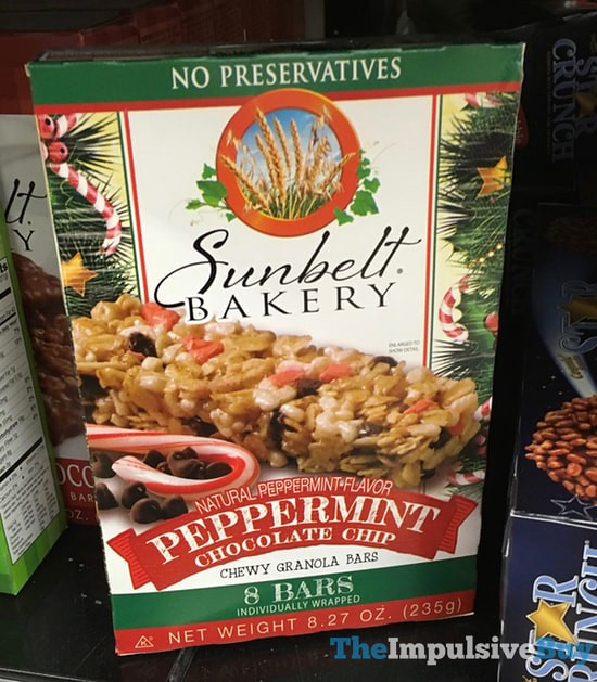 Sunbelt Bakery Peppermint Chocolate Chip Granola Bars