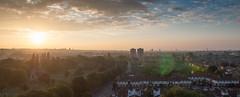 Sunset over Lambeth Cemetery