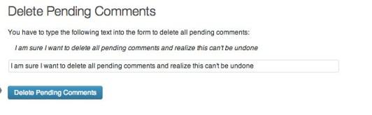 Delete pending comments