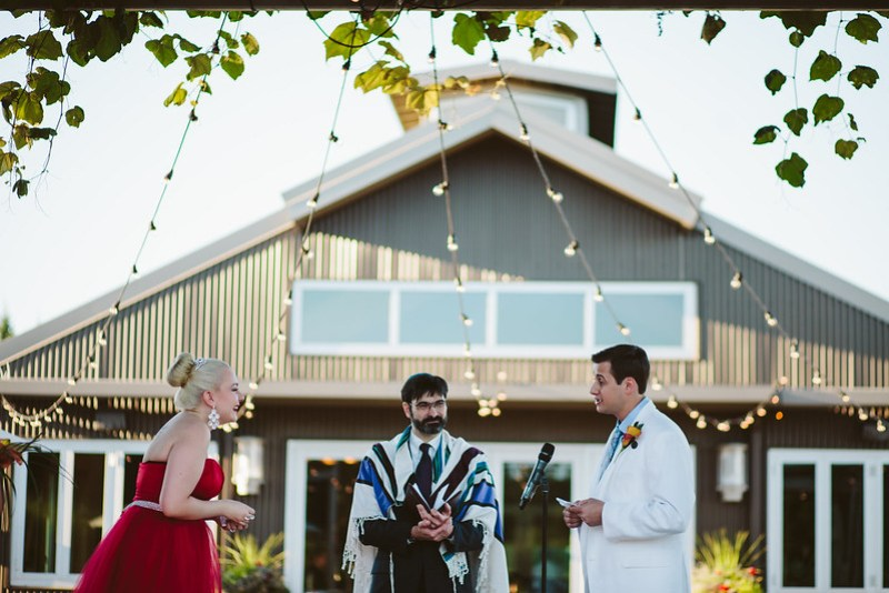 Wedding officiant fashion as seen on @offbeatbride