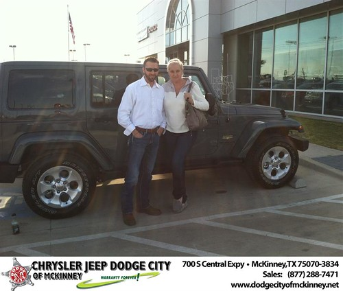 Thank you to Donna Wozniak on your new 2014 #Jeep #Wrangler Unlimited from George Rutledge and everyone at Dodge City of McKinney! #NewCarSmell by Dodge City McKinney Texas
