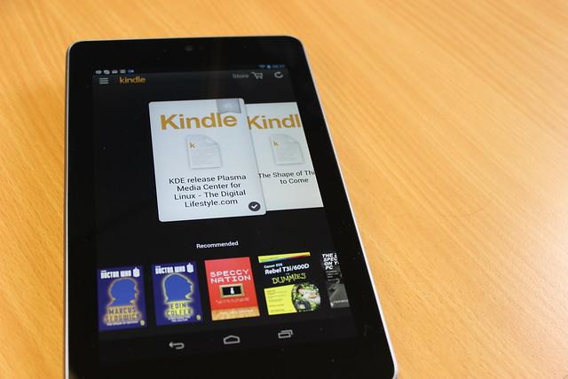 Kindle on a Nexus 7