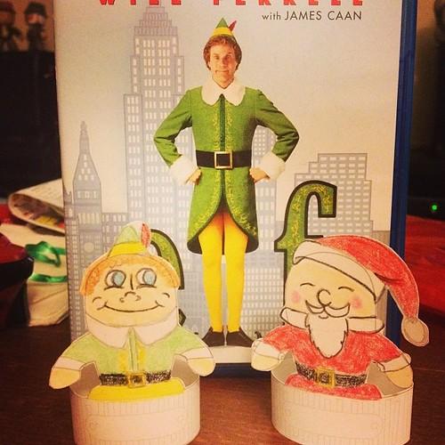 @desktopgremlins Buddy the Elf and Santa #christmas #crafts