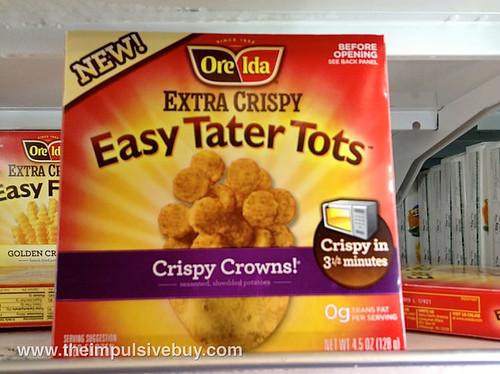 Ore-Ida Extra Crispy Easy Tater Tots Crispy Crowns!