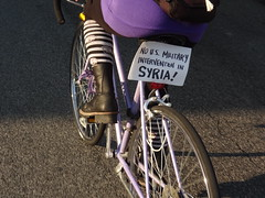 Critical Mass Bike Ride Against the Bombing of Syria